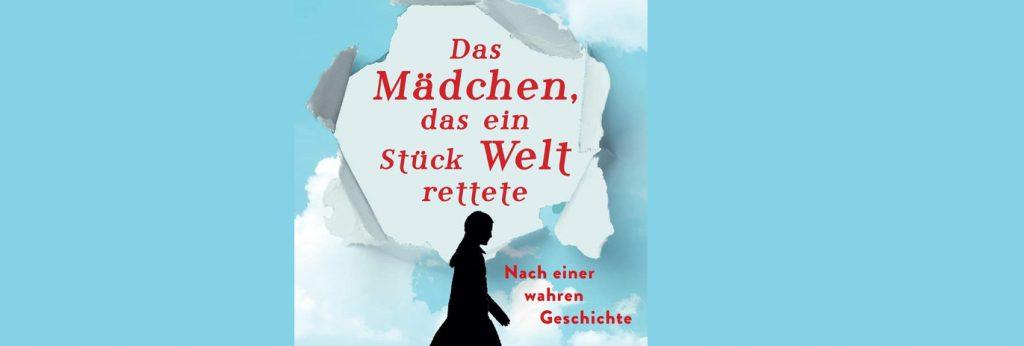 """Abgebildet ist der Buchumschlag des vorgestellten Buches von Sharon Cameron """"Das Mädchen, das ein Stück Welt rettete"""", darauf zu sehen ist ein hellblaues Papier, in das ein rundes Loch gerissen wurde. In diesem Loch erscheint der Titel des Buches in roter Schrift auf weißem Hintergrund."""